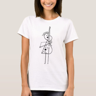 Cello-Mädchen T-Shirt