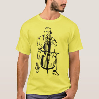 Cello man plays Bach T-Shirt