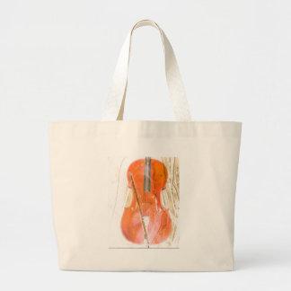 Celloillustration in den neutralen braunen Tönen Jumbo Stoffbeutel
