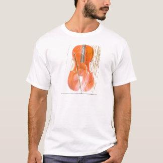 Celloillustration in den neutralen braunen Tönen T-Shirt