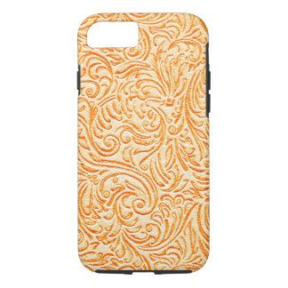 Celosia orange Vintager Scrollwork grafischer iPhone 8/7 Hülle
