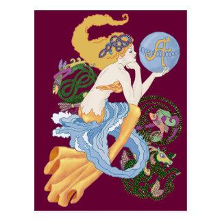 "Celtic ""A "" für Wassermann-Meerjungfrau Postkarte"