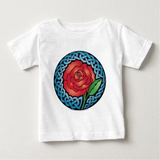 Celtic-beflecktes Glas-Rose Baby T-shirt