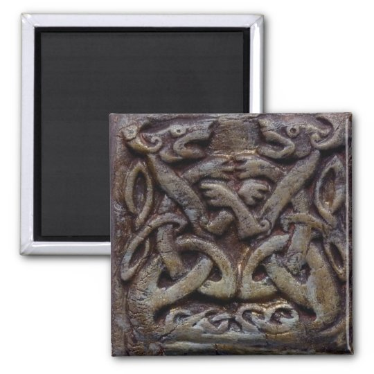 Celtic Dragons Quadratischer Magnet
