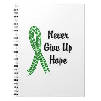 Celtic geben nie Hoffnungs-psychische Gesundheiten Spiral Notizbuch