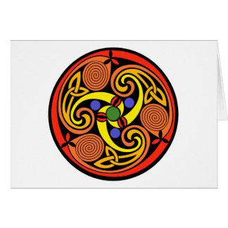 Celtic-gewundene Gruß-Karten Karte