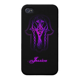 Celtic Hamsa Hand (lila) Hülle Fürs iPhone 4