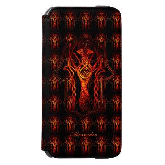 Celtic Hamsa Hand (orange/Rot) Incipio Watson™ iPhone 6 Geldbörsen Hülle