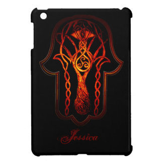 Celtic Hamsa Hand (orange/Rot) iPad Mini Hülle