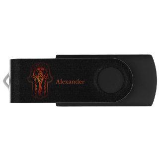 Celtic Hamsa Hand (orange/Rot) USB Stick