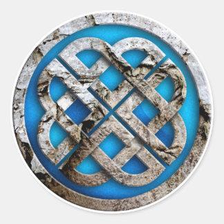celtic knot runder aufkleber