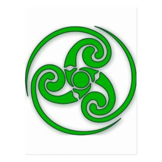Celtic-Spirale Postkarte