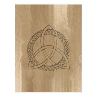 Celtic Triquetra Dreiheits-Knoten-Postkarte Postkarte