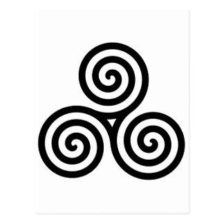 Celtic Triquetra Knoten II Postkarte