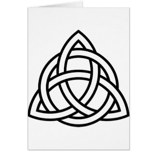 Celtic Triquetra Knoten IV Karte