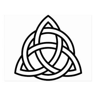 Celtic Triquetra Knoten IV Postkarte