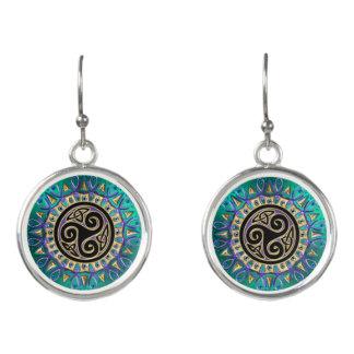 Celtic Triskele Mandala-Ohrringe Ohrringe
