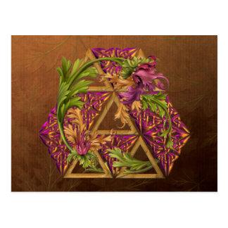 Celtic Triskels Ornamental Postkarte
