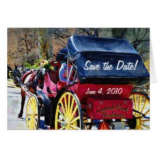Central Park, der Save the Date Karte Wedding ist