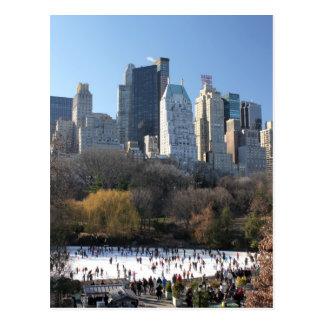 Central Park-Eisbahn Postkarte