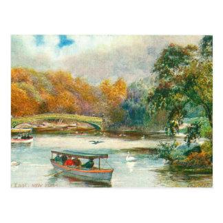 Central Park-Herbst Postkarte