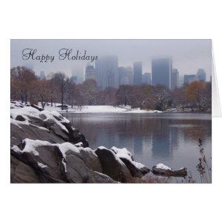 Central Park in der Schnee-Gruß-Karte - besonders Karte