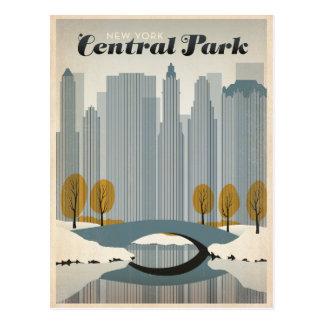 Central Park, NYC - Schnee Postkarte