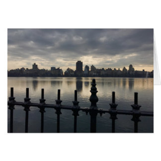 Central Park-Reservoir-New- York CitySkyline NYC Karte