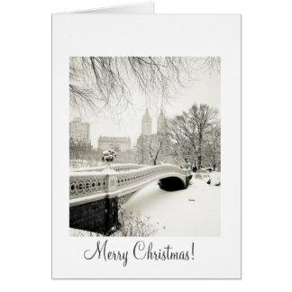 Central Park-Schnee - Weihnachten Karte