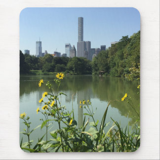 Central Park See-New York City NYC Skyline-Blume Mousepad