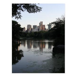 Central Park-Stadt-Ansicht Postkarte