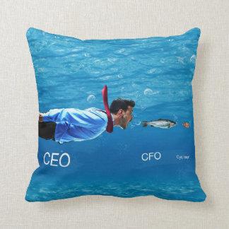 CEO, CFO, C-ya neueres Geschäfts-Spaß-Kissen Zierkissen