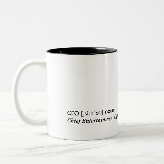 CEO - Chief Entertainment Officer Zweifarbige Tasse