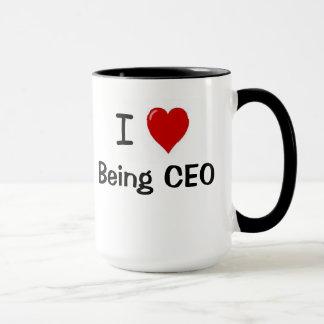 CEO - Lustig - i-Liebe, die CEO-Herz-Doppeltes Tasse