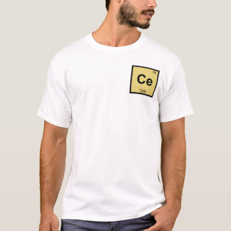 Cer - Cello-Musik-Chemie-Periodensystem-Symbol T-Shirt