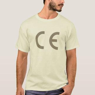 Cer-Kennzeichen-warm-grau-auf-natürlich-T-Stück T-Shirt