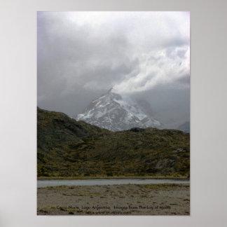 Cerro Norte, Lago Argentinien Poster