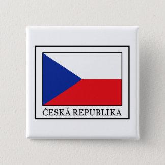 Ceska Republika Quadratischer Button 5,1 Cm