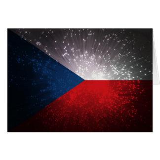 Česká republika; Tschechische Flagge Mitteilungskarte