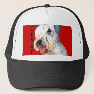 Cesky Terrier Farbblock Truckerkappe
