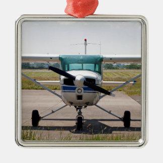 Cessna-Leichtflugzeug Silbernes Ornament