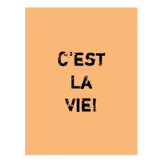 """C'est La konkurrieren! ""Inpirational Zitat Postkarte"