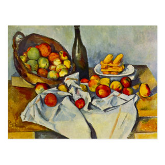Cezanne der Korb der Apfel-Postkarte Postkarte