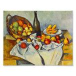 Cezanne der Korb des Apfel-Druckes Photo Druck