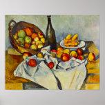 Cezanne der Korb des Apfel-Plakats Poster