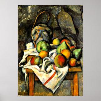Cezanne - Ingwer-Glas und Frucht Poster
