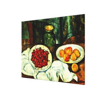 Cezanne - Kirschen Leinwanddruck