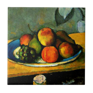 Cezanne - Pfirsiche, Birnen und Trauben Keramikfliese