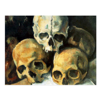 Cezanne Pyramide der Schädel-Postkarte