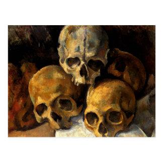 Cezanne - Pyramide der Schädel Postkarte